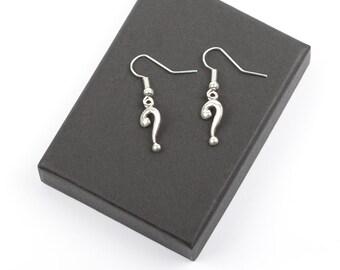 Question Mark Earrings | Punctuation Earrings | Question Mark Jewellery | Writers Jewellery