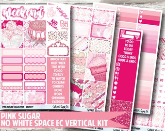 Pink Sugar Planner Stickers - No White Space Kit