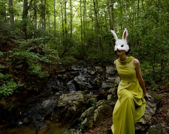 White Rabbit Mask, handmade