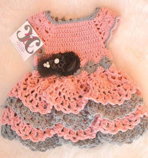 Häkeln Baby Babykleid Rüschenkleid Neugeborene Kleid