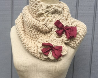 Cowl scarf, neckwarmer