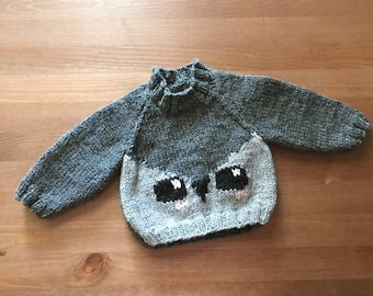 Oh Hey Owl Sweater ***READY TO SHIP***