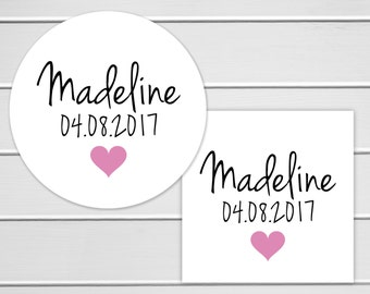 Baby Shower Stickers, Baby Announcement Stickers, Invitation Seal Stickers (#210)