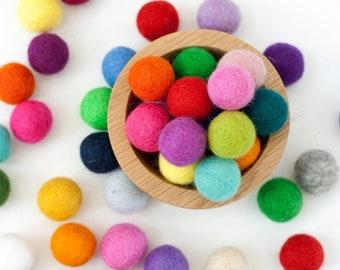 2 cm Wool Felt Balls - Choose Your Own Colors - Pom Pom Balls - Wool Felt Beads - Felted Wool Balls,