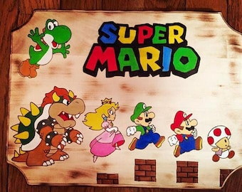 Super Mario Plaque