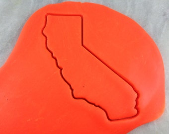 California Cookie Cutter Outline - SHARP EDGES - FAST Shipping - Choose Your Own Size!
