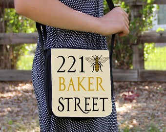 221 Bee Sherlock Holmes  Small Messenger / Shoulder Bag