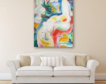 Erotic Art Original Art Oil Painting Extralarge Painting Original Painting Modern Painting Paintings Women Wall Art Contemporary Art