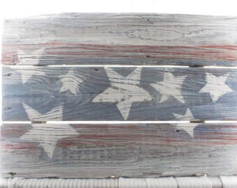 american flag, sign, fourth of July, home decor, 4th of July, Handmade, indoor, outdoor, rustic, stars and stripes, red white and blue