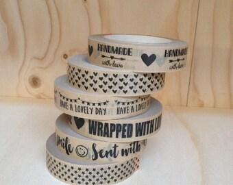 "Kraft Tape Adhesive Paper Tape (54 yards x 1"" high)"