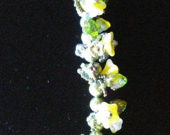Handmade Flower Vine Bracelet
