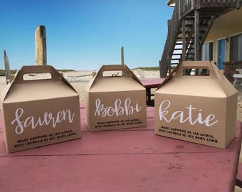 Personalized Gable Box - Great gift box for bridesmaids, groomsmen, bachelorette parties, destination weddings, girls weekends, anything..