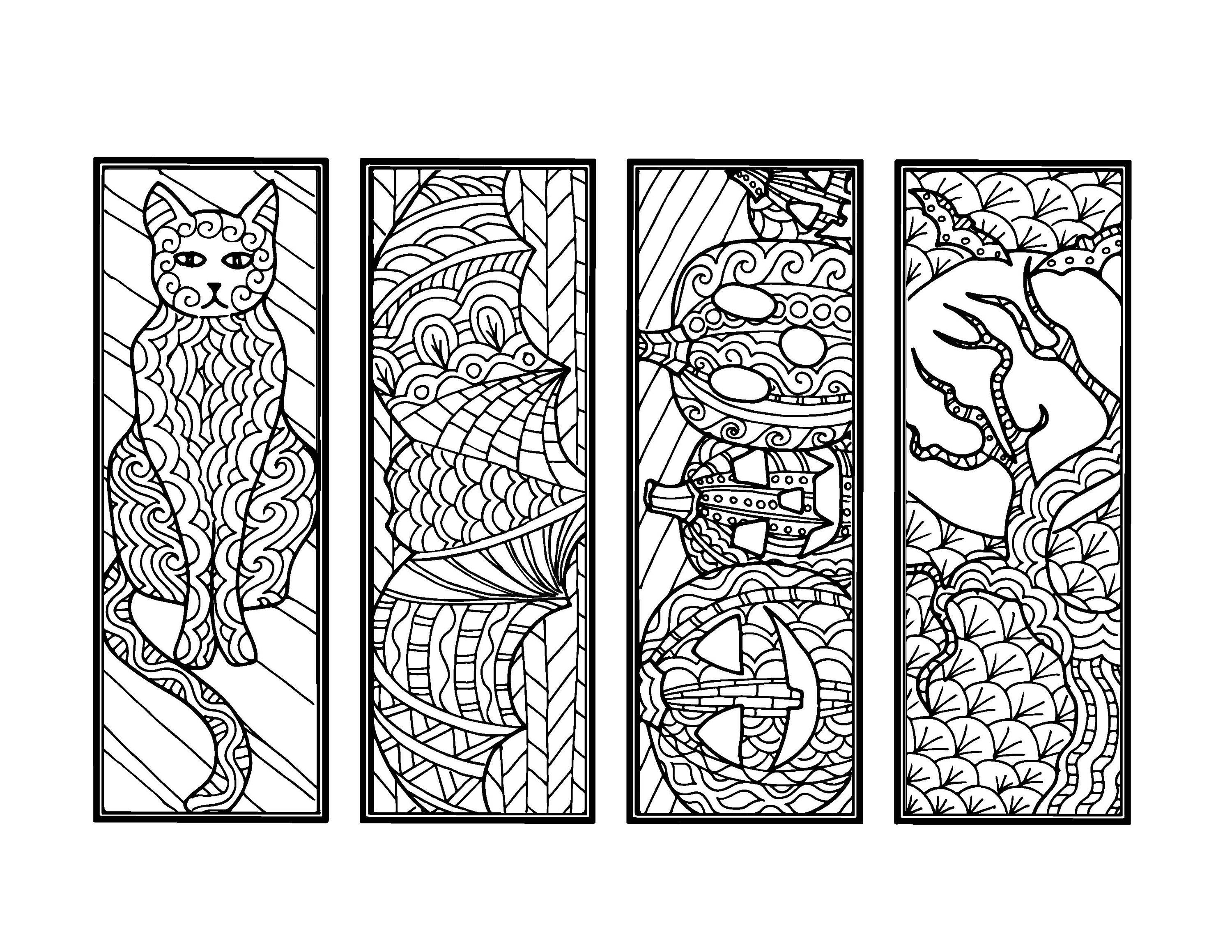 DIY Halloween Bookmarks-Holiday Crafts-Color Your Own Bookmark ...