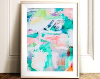 Abstract wall art, PRINTABLE art, Colorful art, Abstract art, Modern painting, Abstract painting, Brushstroke art, Abstract print, Pink art