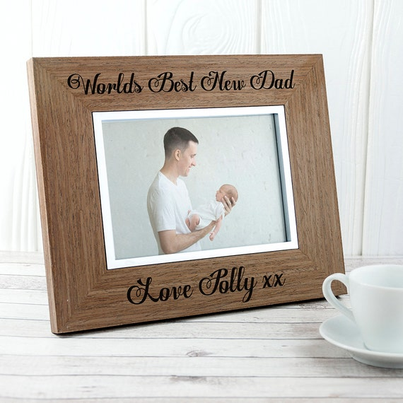 World\'s Best New Dad Wooden Frame - New Daddy - First Father\'s Day ...