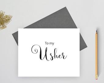 To my usher card, wedding stationery, wedding stationary, folded note cards, folded wedding cards, wedding note cards, wedding card