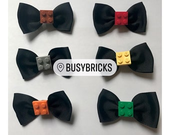 Lego Plate Hair Clips / Bow Ties