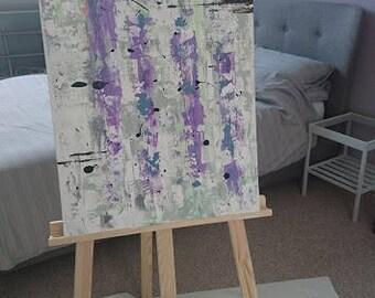 Abstract Handmade Art on Canvas Using Texture