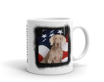 Patriotic Weimaraner Mug
