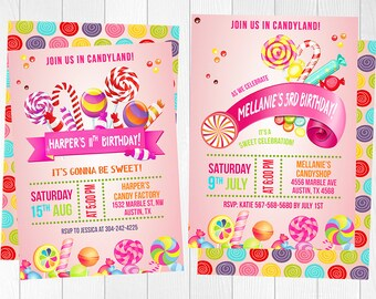 candyland invitation sweet shop invitation candy invitation candyland birthday candyland party candy land candyland invitations