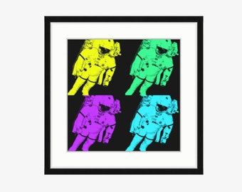 Astronaut art Space art Outer space decor Astronaut print Astronaut pop art Outer space nursery Astronaut bedroom art Astronaut illustration