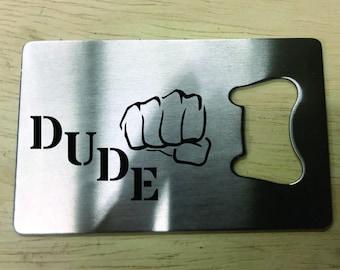 Dude Card Man Card Wedding Favor boyfriend gift