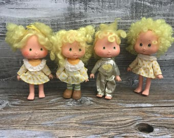 4 Vintage Strawberry Shortcake Lemon Meringue 1979 Collectible Dolls American Greetings Shortcake Friends