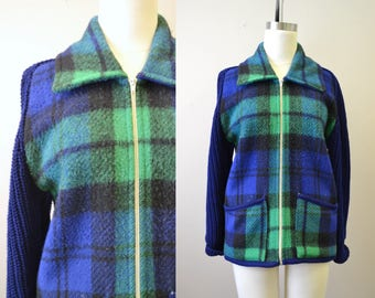 1970s Gaeltarra Wool and Knit Jacket