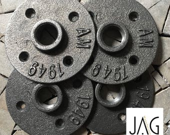 "Lot 4 flanges floor 1/2 ""15/21 black cast iron"