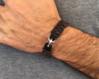 Man leather bracelet