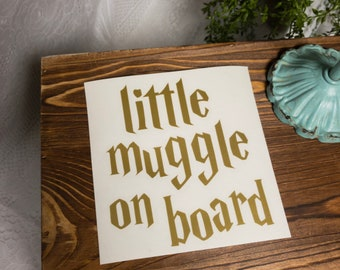 little muggle on board car decal harry potter car decal mom car decal baby on board decal car decals for mom harry potter car decal muggle