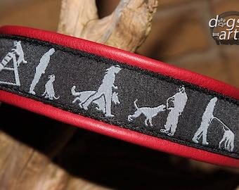 Dog Collar, Leather Dog Collar, Boy Dog Collar, Girl Dog Collar, IPO, Schutzhund, Obedience Dog Collar, Tracking Dog Collar, Hundehalsband