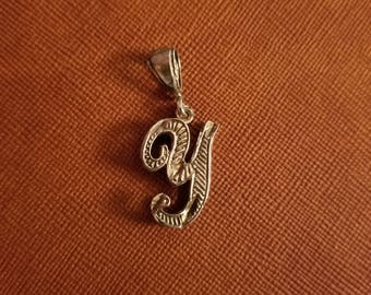 """Sterling silver Intial """"Y""""  charm"""
