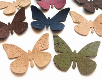 Cork Fabric Butterfly Die Cut, Butterfly Applique for Craft and Sewing Projects
