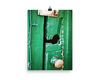 rustic green door | photography | wall decor