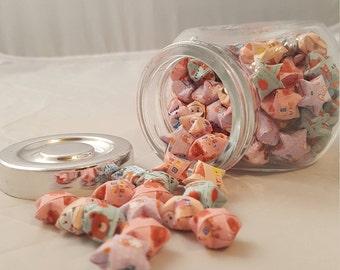 Origami jar of stars