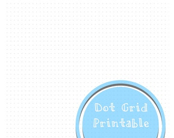 Dot Grid Printable - Letter Size