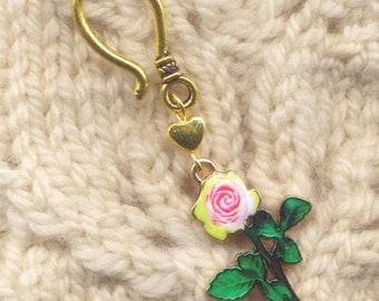 Long Stemmed Roses Progress Keeper Hook Pink Rose Single/SM287