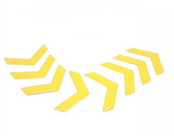 20 Chevron 30x10mm yellow Triangle connectors