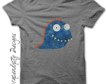 Monster Iron on Transfer - Birthday Iron on Shirt / Kids Boys Clothing Tshirt / Monster Shirt / Boy Shirt / Monster Party Printable IT10