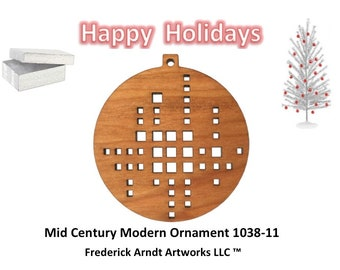 1038-11 Mid Century Modern Christmas Ornament