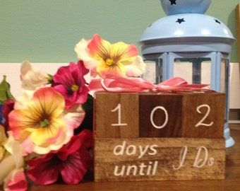 Wedding countdown set