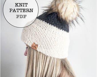 Knitting Pattern / Combo Pack Knitting Pattern / Double Brim Knitting Pattern / Whiteowlcrochetco Deluxe Double Brim Combo Pack