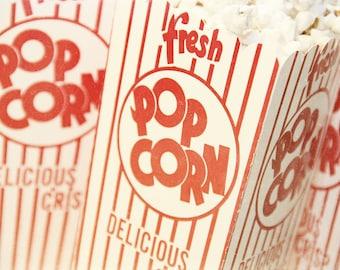 food photography // retro pop art // game room art // movie theater art - Fresh Popcorn, photography print