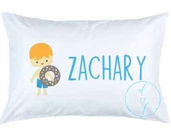 Personalized Custom Beach Summer Pillowcase