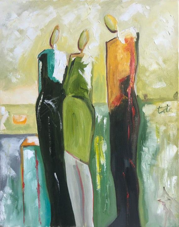 Conversation 13 Oil Painting Wall Art Human Figure