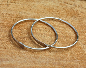 Sterling Silver Hoop Earrings - Endless Hoops - Sterling Hoops - 1 Inch Hoops - Medium Hoops - Simple Silver Hoops - Minimalist Jewelry