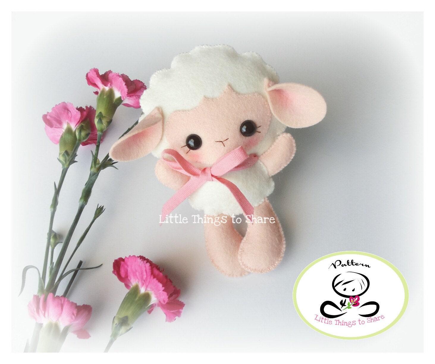 Baby Sheep-PDF pattern-Felt Lamb-DIY Project-Farm Animals ...