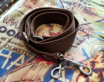 Vintage brown replacement shoulder strap for your large duffle or luggage
