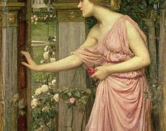 John William Waterhouse: Psyche Entering Cupid's Garden. Fine Art Print/Poster. (003621)